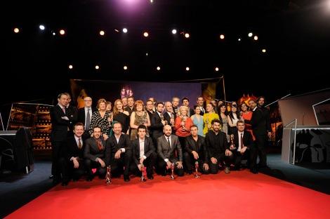 Foto de família dels guanyadors. ©Ruano Fotografía.