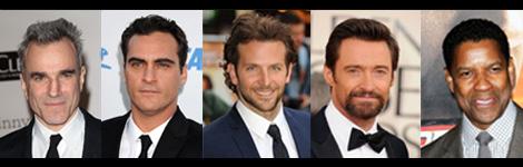 Els cinc candidats a millor actor protagonista.