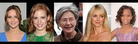 Les cinc candidates a millor actriu protagonista. Qui guanyarà?