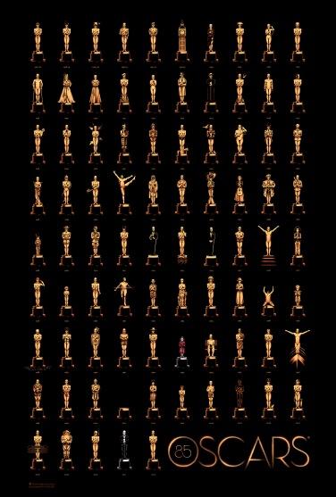 Poster d'Olly Moss amb tots els guanyadors. Quina serà la 85ena pel·lícula?