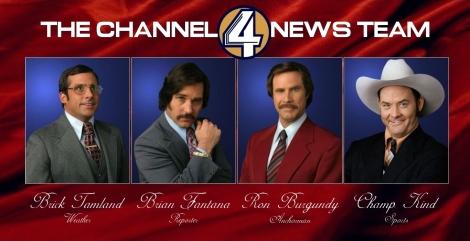 El peculiar equip de periodistes del Canal 4 de San Diego.