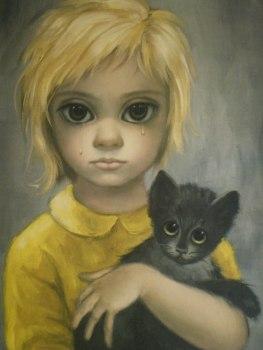 Un dels famosos quadres de Margaret Keane, que destacaven pels grans ulls que donen nom a la pel·lícula.