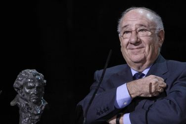 L'actor, emocionat, va recollir el Goya de Honor a la seva carrera fa cinc anys.