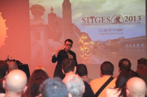 El director del festival, Angel Sala en un moment de la presentació d'ahir.