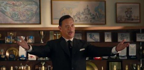 L'excèntric Walt Diseny és interpretat per Tom Hanks.