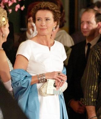 Emma Thompson caracteritzada com l'escriptora d'origen australià.