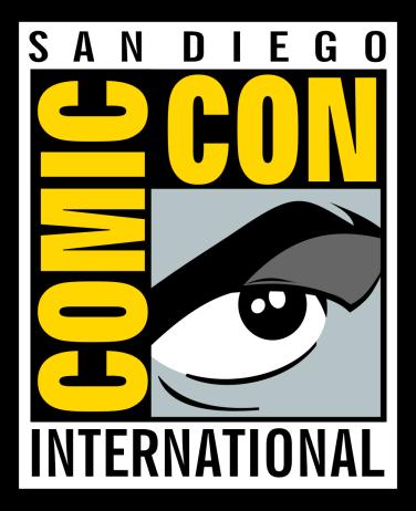 El ja clàssic logo del Comic Con de San Diego.