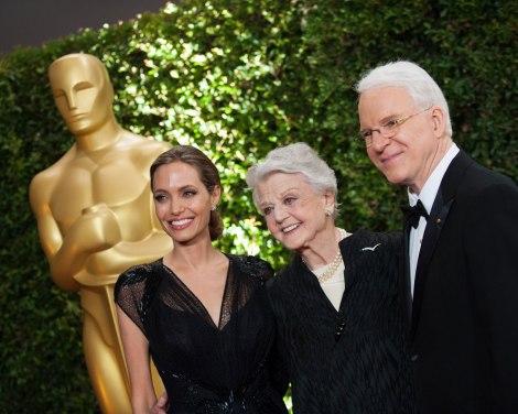 Jolie, Landsbury i Martin a la gala. Toro no hi va poder assistir des d'Itàlia.