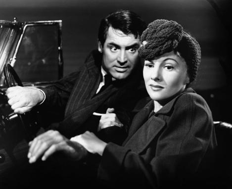 Fontaine, acopmanyada de Cary Grant a SOSPECHA.