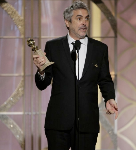 Alfonso Cuarón rebent el premi per GRAVITY.