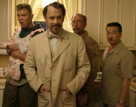Tom Hanks ja interpretat un guió dels Coen, THE LADYKILLERS, que no va ser molt ben rebuda en el seu dia.
