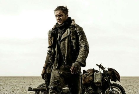 Hardy a una de les poques imatges oficials de la propera MAD MAD: FURY ROAD.